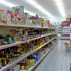 Breakfast foods, coffees and various beverages, honey, jams, biscuits, Marina Gouvia Market
