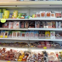 Cold cuts, sausages, butter, dressings, Marina Gouvia Market