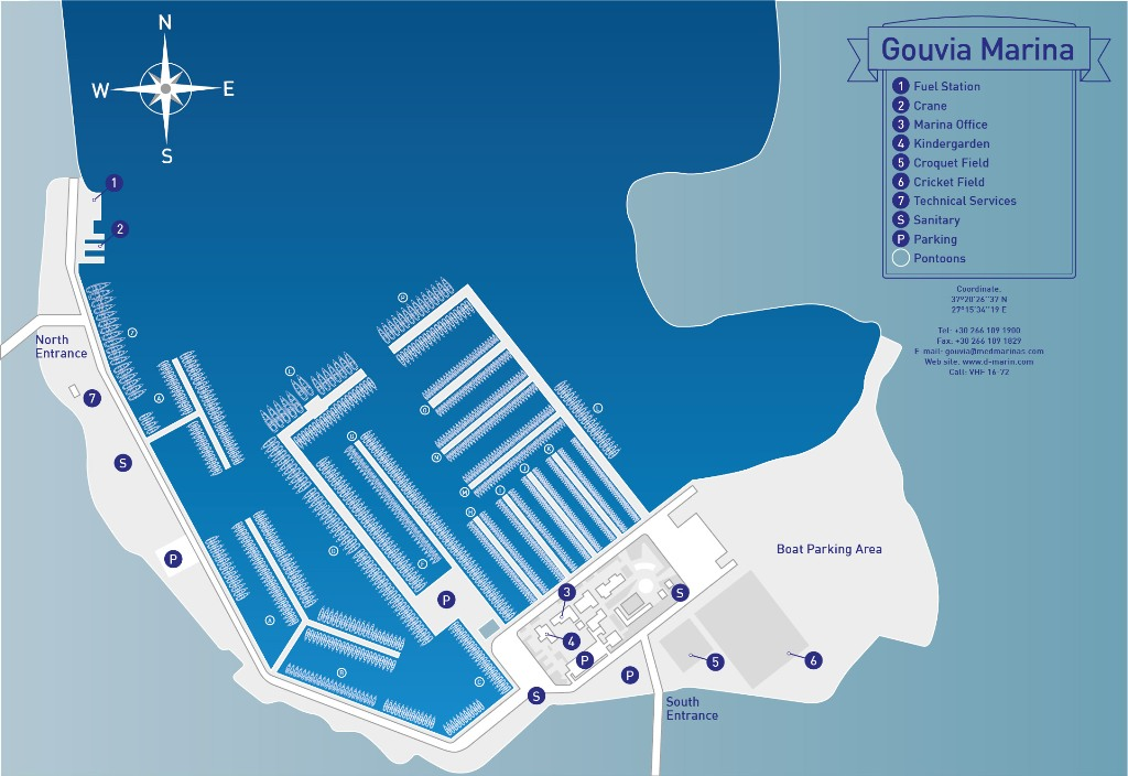 Map Marina Gouvia Market Free Delivery To Your Boat