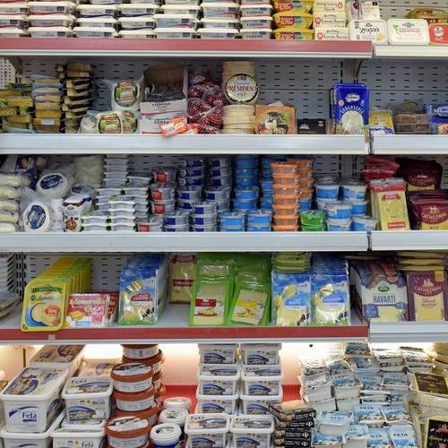 Fresh cheeses and dairy products, Marina Gouvia Market Corfu